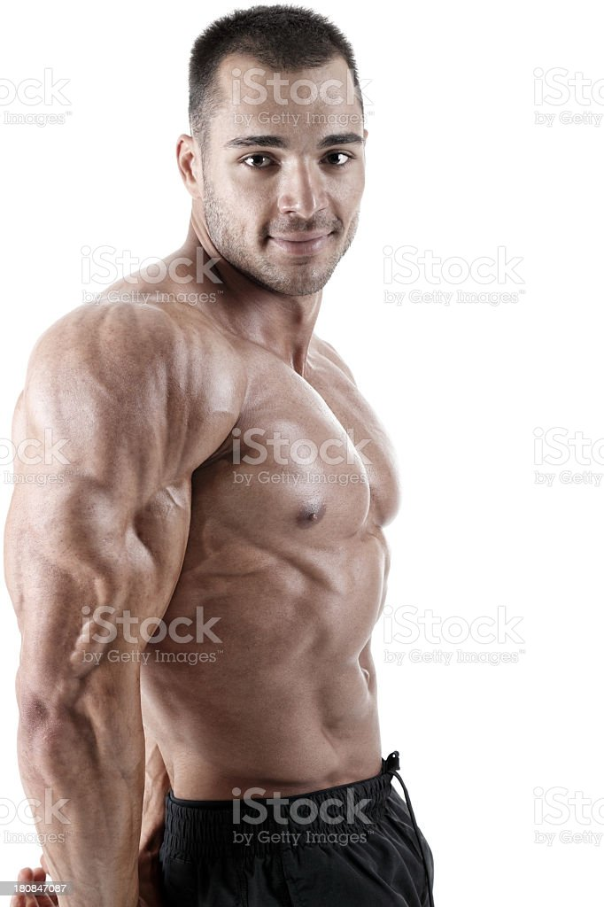 Young bodybuilder royalty-free stock photo