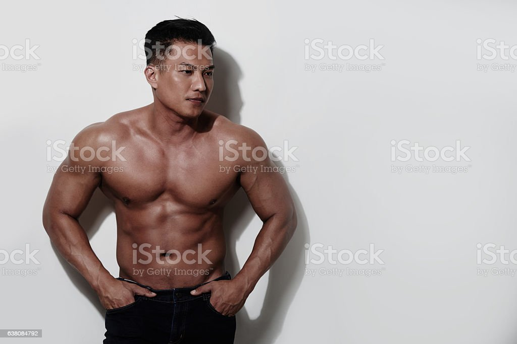 Young bodybuilder stock photo