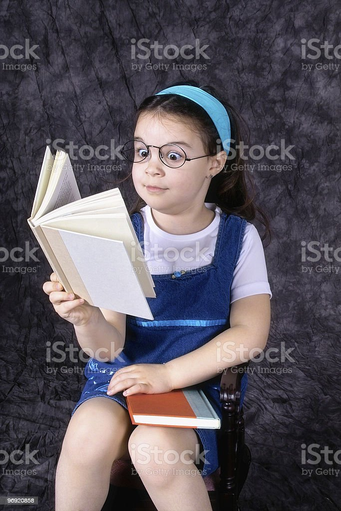 Young Bookworm II royalty-free stock photo