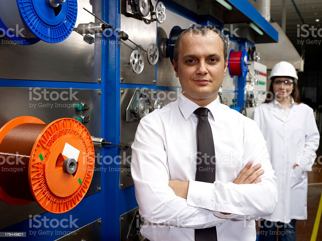 Young Boss With Engineer royalty-free stock photo