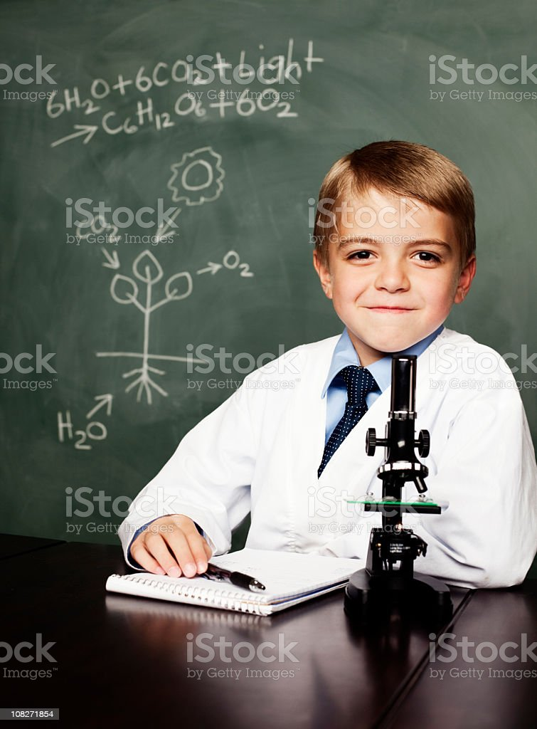 Young Botanist stock photo