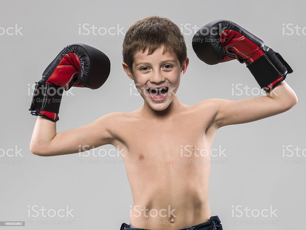 Young boxer (real people) stock photo