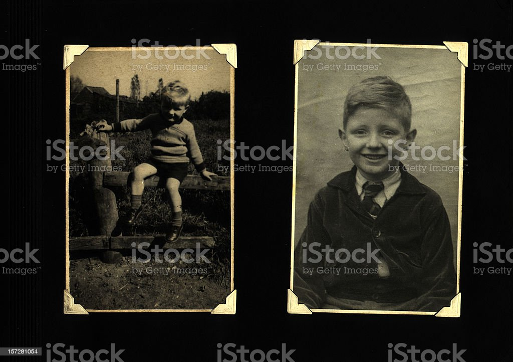 young boy album page royalty-free stock photo