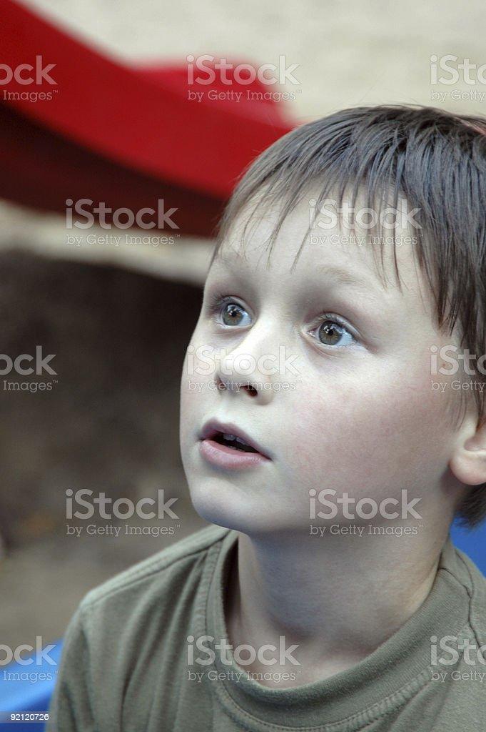 Young boy. Astonishment. royalty-free stock photo
