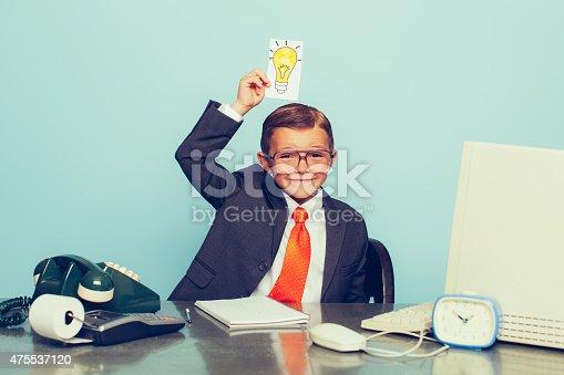 istock Young Boy Businessman Has Big Ideas 475537120