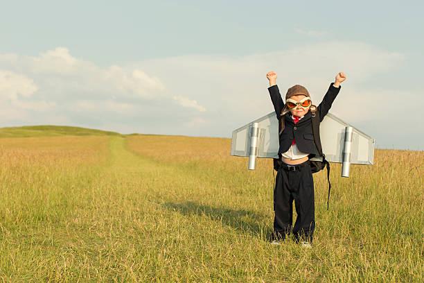 Jeune garçon portant l'espace. Homme d'affaires en Angleterre - Photo