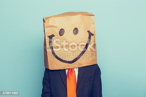 istock Young Boy Businessman Wears Happy Face 475511932