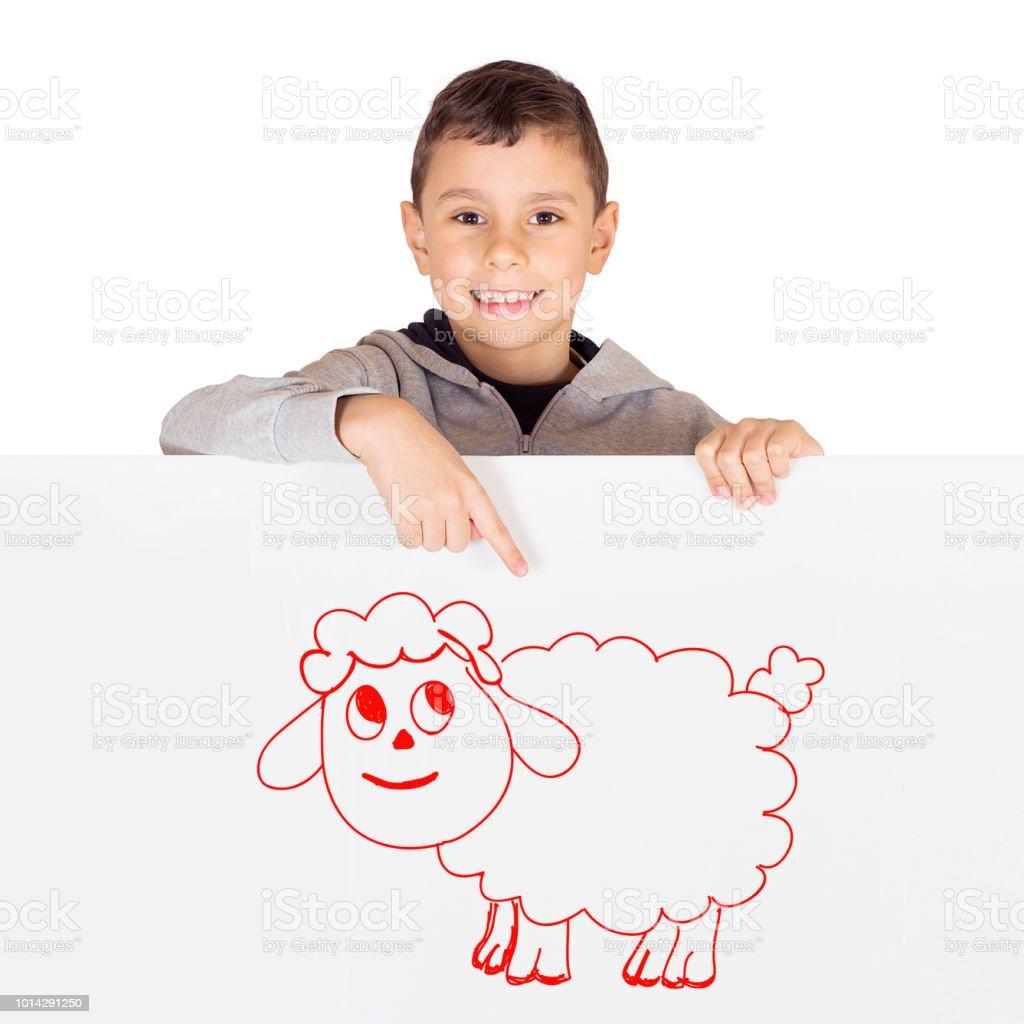 Young boy celebrating Eid ul Adha - Happy Feast stock photo