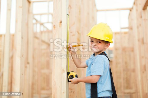 istock Young Boy Construction Worker 1132352851