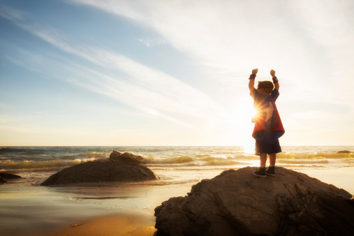 Little boy on a beach stock photo. Image of little