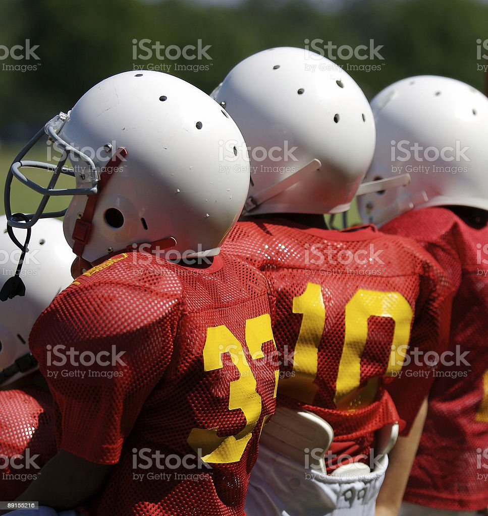 Young boy footbal players stock photo