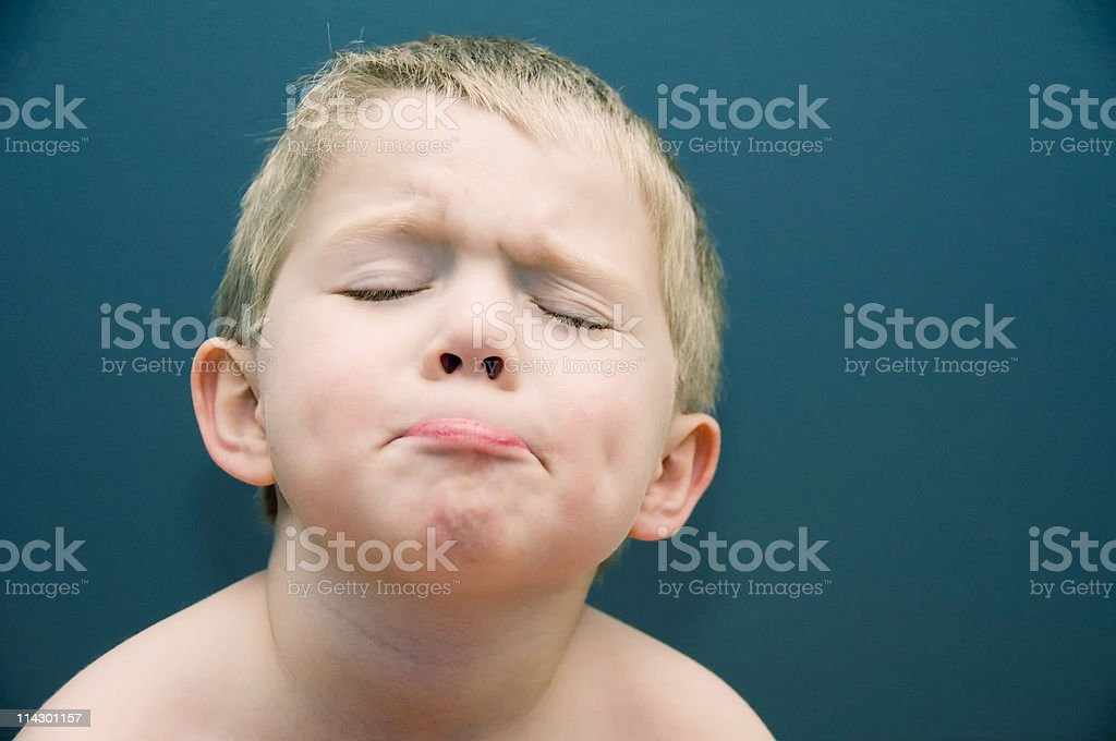 Young Boy Funny Face stock photo