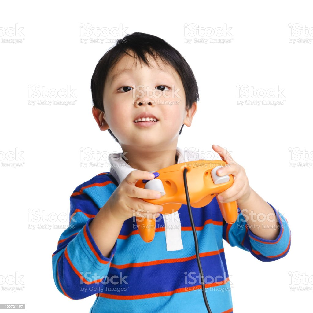 Young Boy Gamer royalty-free stock photo