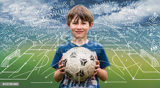 istock Young boy holding a soccer ball 843290460
