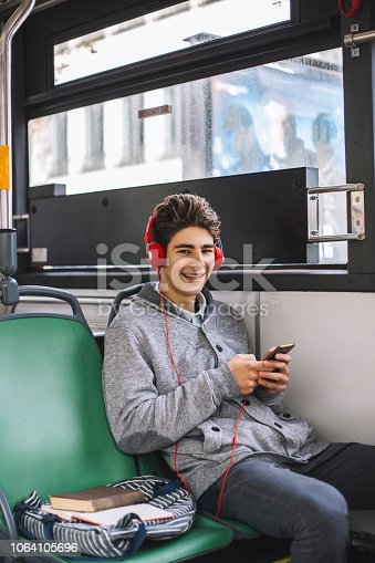 istock Young boy in autobus 1064105696