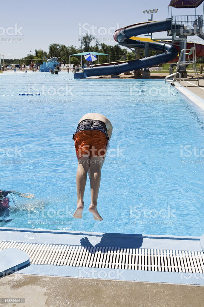 Young Boy Learning to Dive royalty-free stock photo