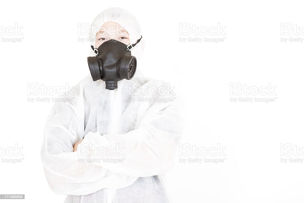 Young Boy Painter stock photo