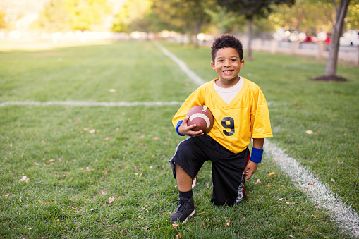 istock A Young Boy Plays Flag Football 655979662