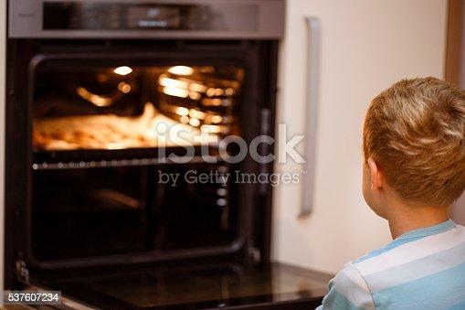494086690istockphoto Young boy preparing Christmas gingerbread cookies 537607234