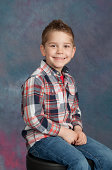 Young Boy School / Yearbook Portrait Age 4