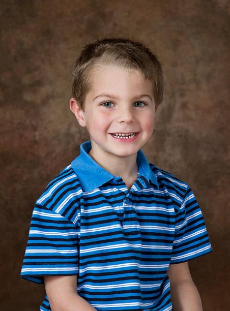 Young Boy School / Yearbook Studio Portrait Age 5 stock photo
