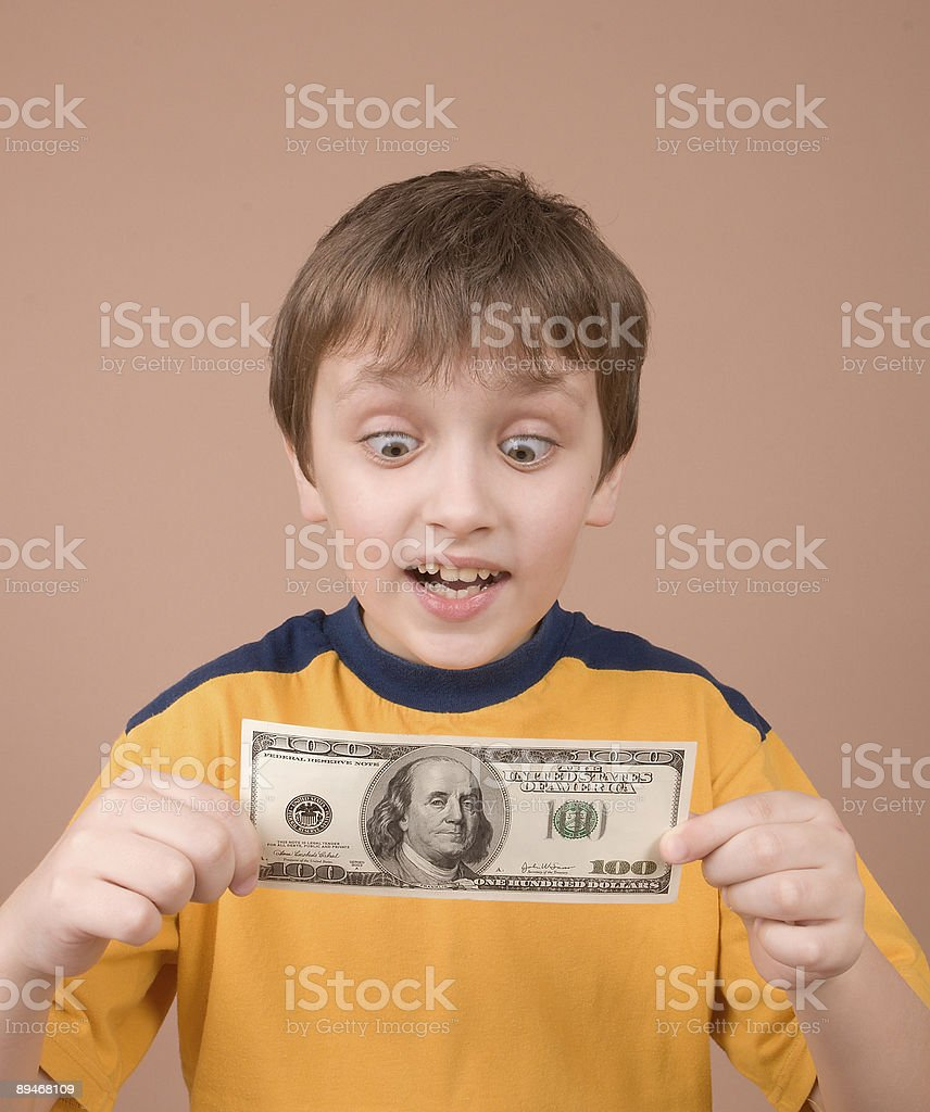 Junge mit Geld Lizenzfreies stock-foto
