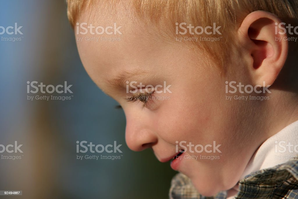 young boy side portrait royalty-free stock photo