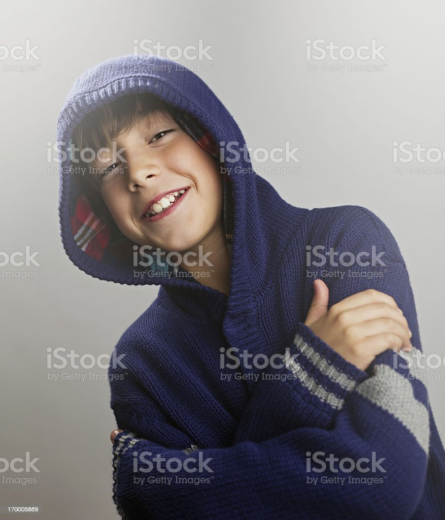 Young boy smiling stock photo