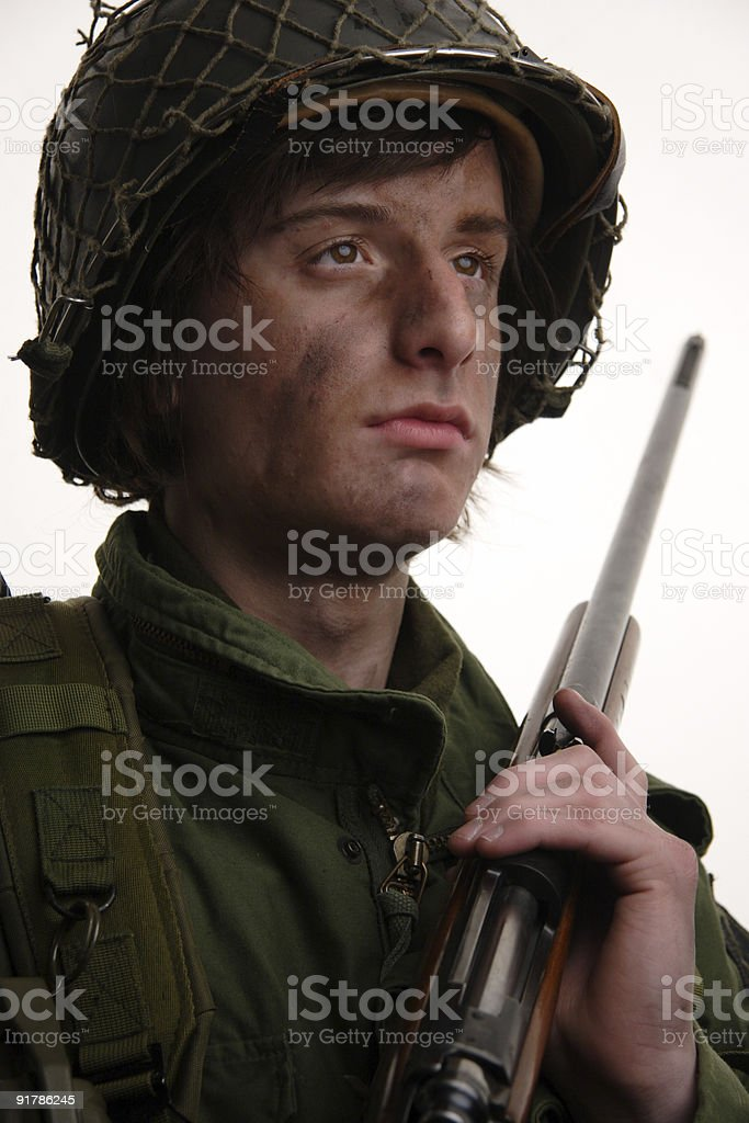 young boy soldier teen portrait royalty-free stock photo