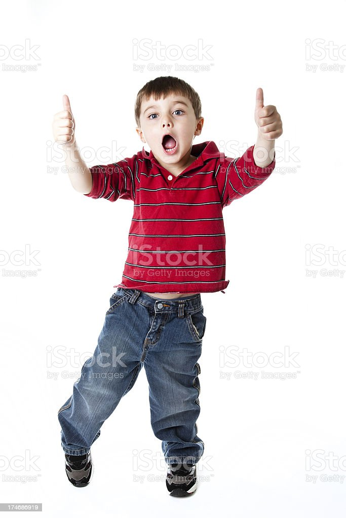 Young boy thumbs up! royalty-free stock photo