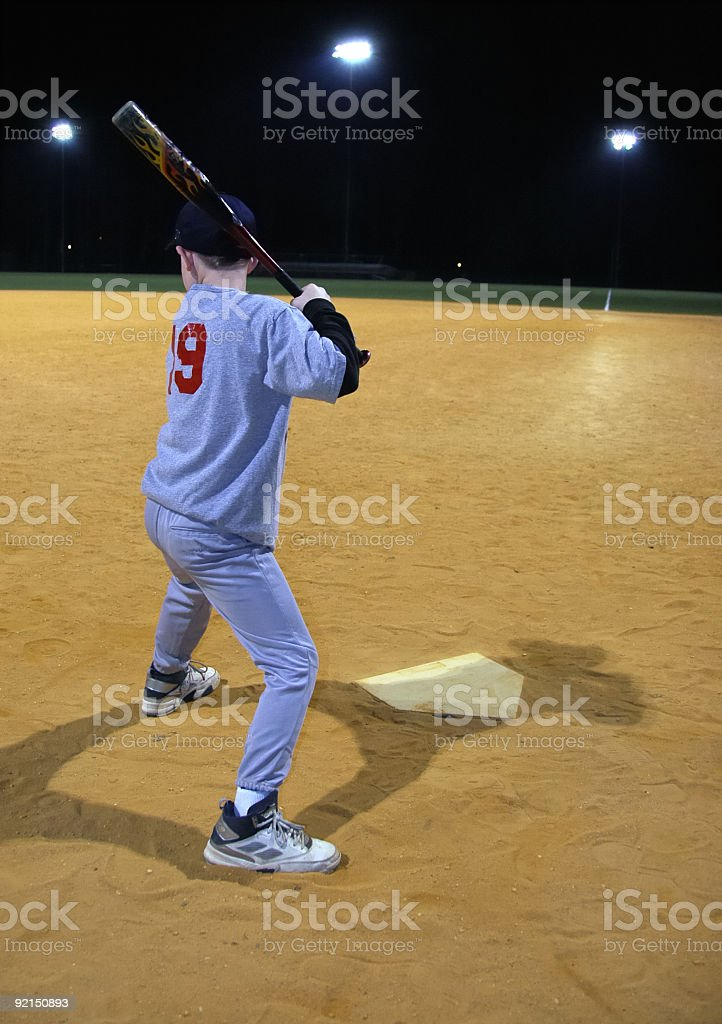 Young boy waiting for a pitch royalty-free stock photo