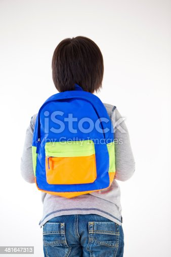 istock Young Boy with backpack 481647313