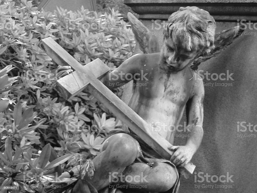 young boy with cross royalty-free stock photo