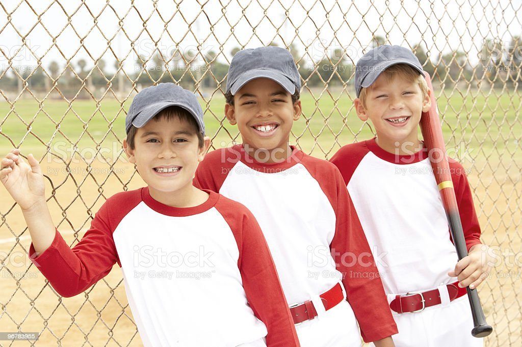 Young Boys In Baseball Team royalty-free stock photo