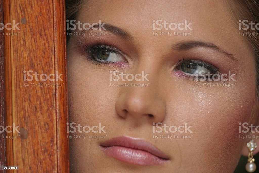 Young bride, close up face royalty-free stock photo