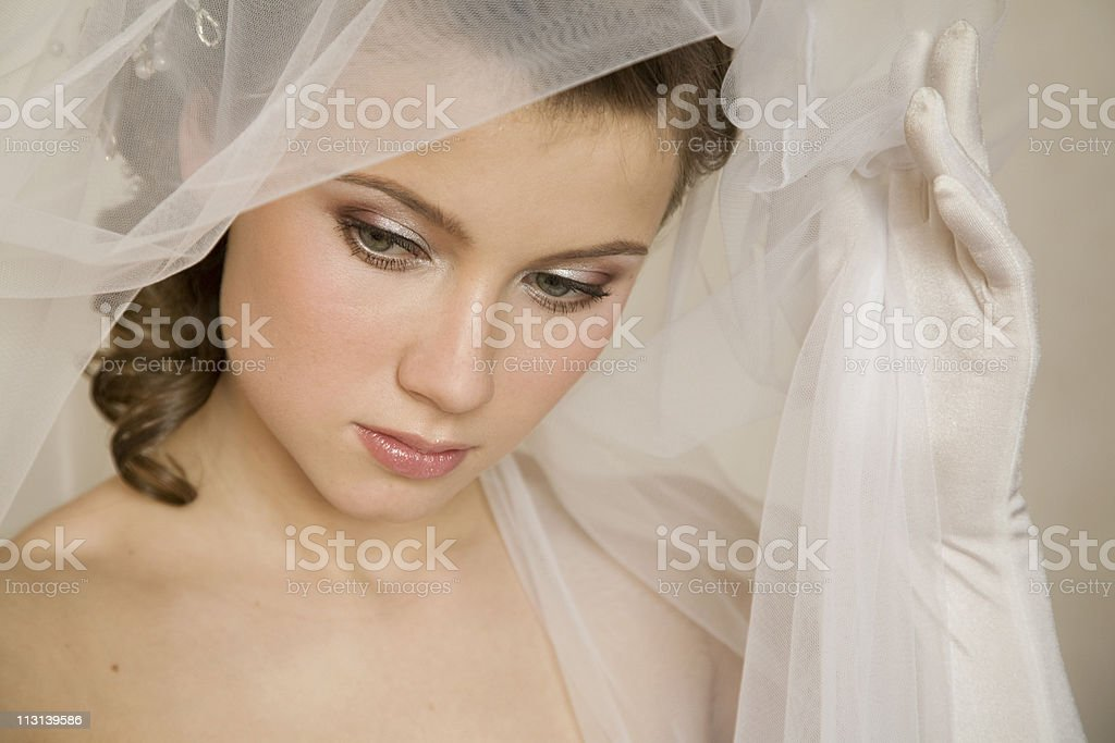 Young bride.XL royalty-free stock photo