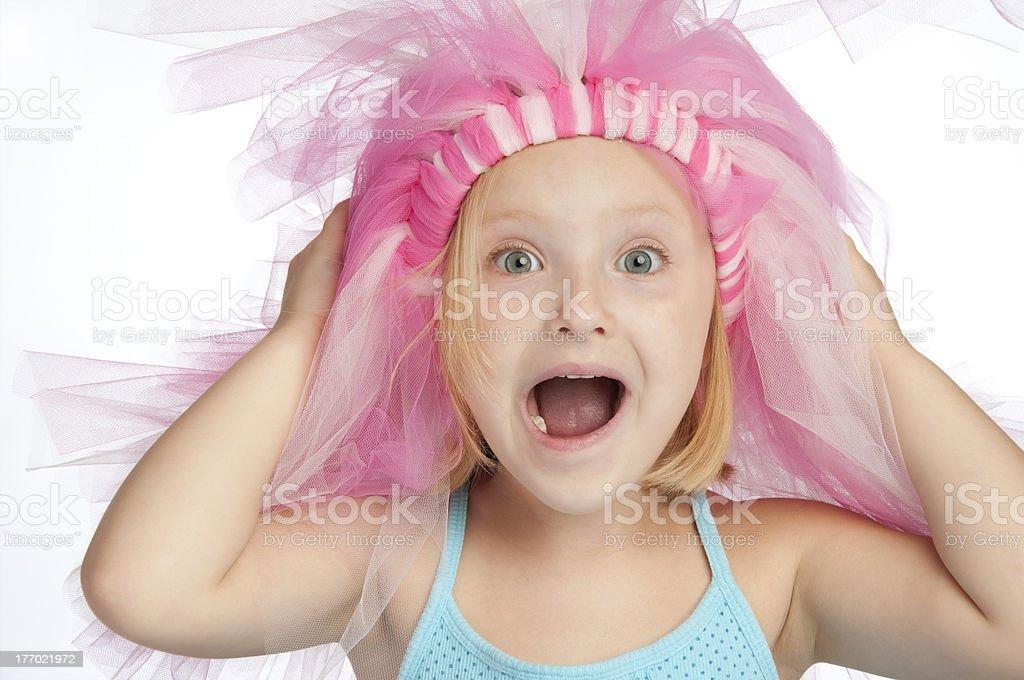Young bride-zilla stock photo