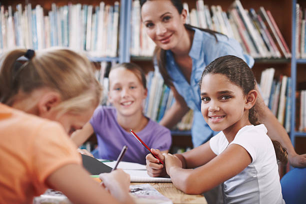 Young bright minds stock photo