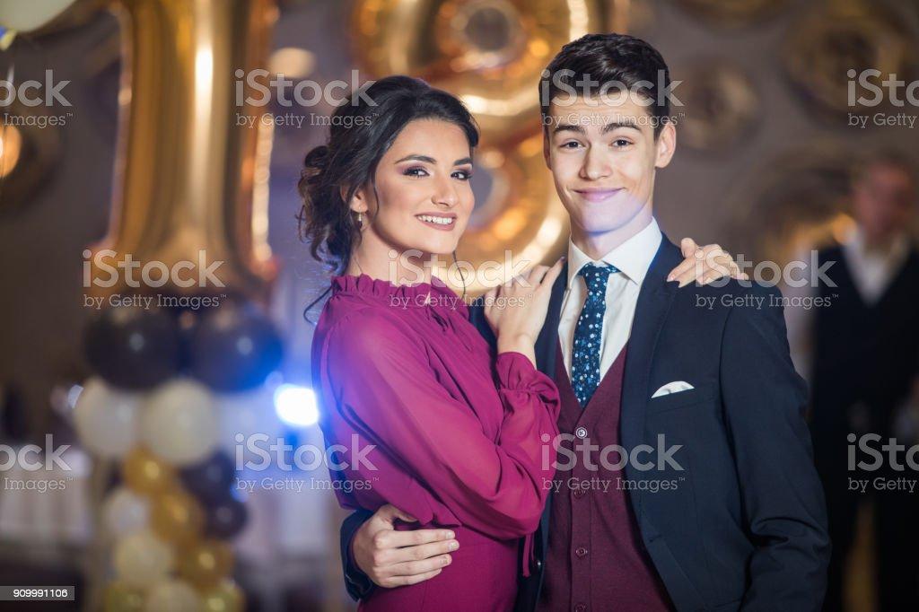 Jovem Irmão e irmã - foto de acervo