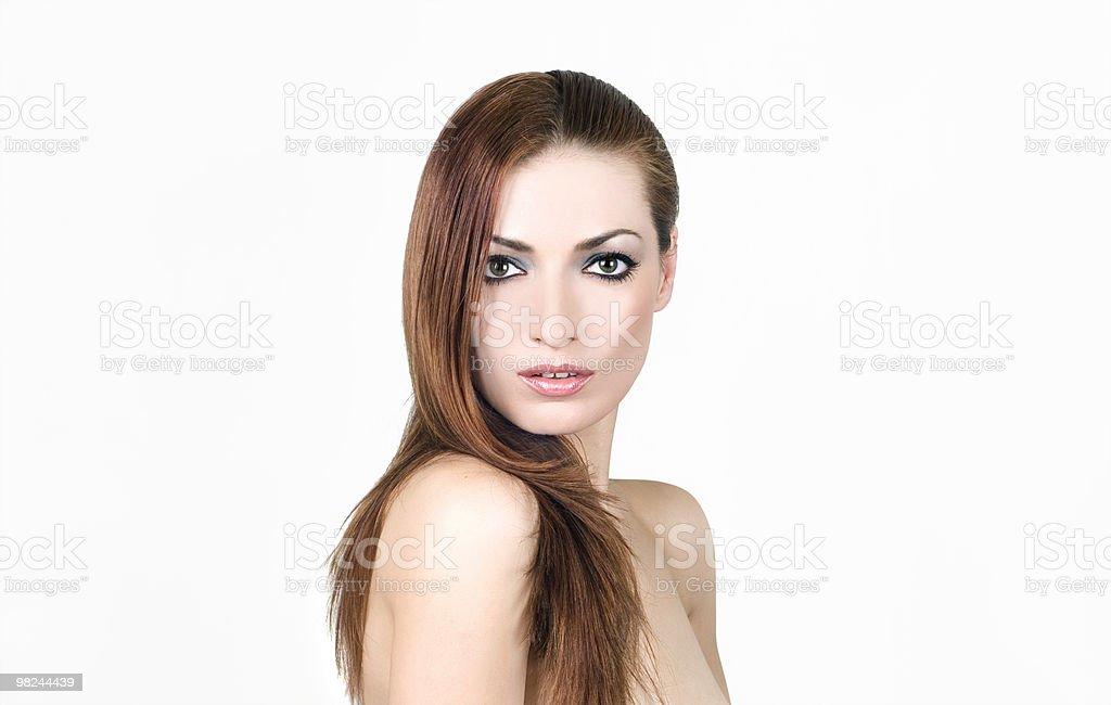 젊은 brunette 변모시키십시오 royalty-free 스톡 사진