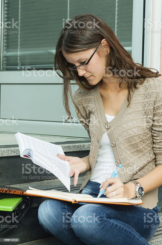 Young Brunette female student royalty-free stock photo