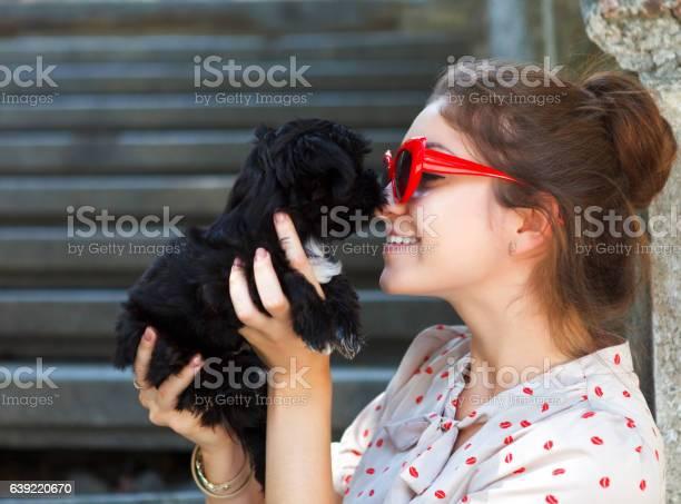 Young brunette woman hugging her lap dog puppy picture id639220670?b=1&k=6&m=639220670&s=612x612&h=jhoze3vlhhzmzxvpcaaf6rkkfbnlnhrnxvzdsof9oli=