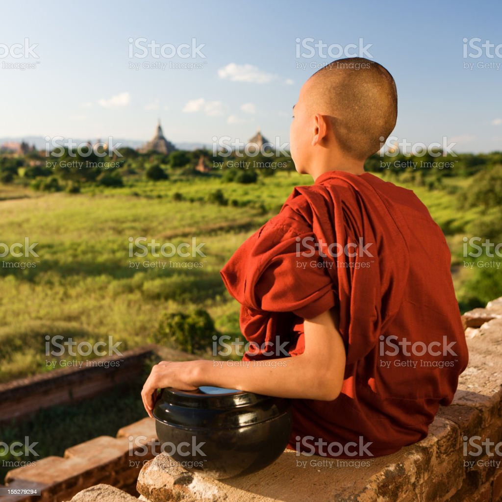 Portrait of a young Buddhist monk, Bagan, Myanmar