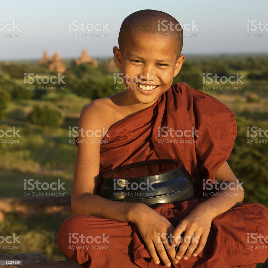 \'Portrait of a young Buddhist monk, Bagan, Myanmar \'