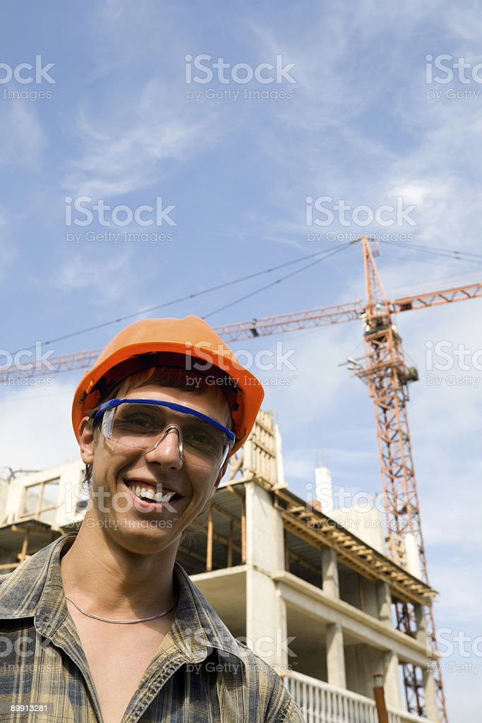 Giovane builder foto stock royalty-free