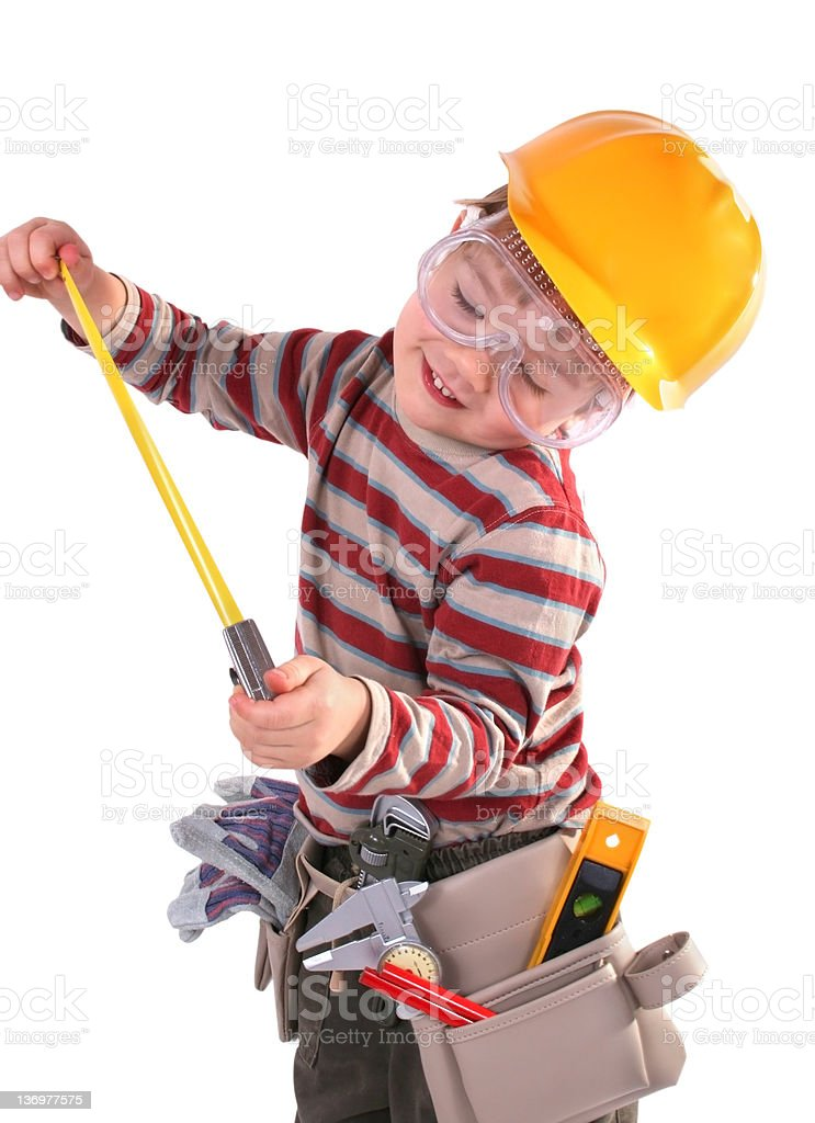 Young Builder - Przemek royalty-free stock photo