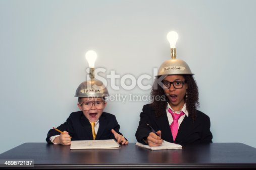 480585411 istock photo Young Business Boy and Woman React to Great Idea 469872137