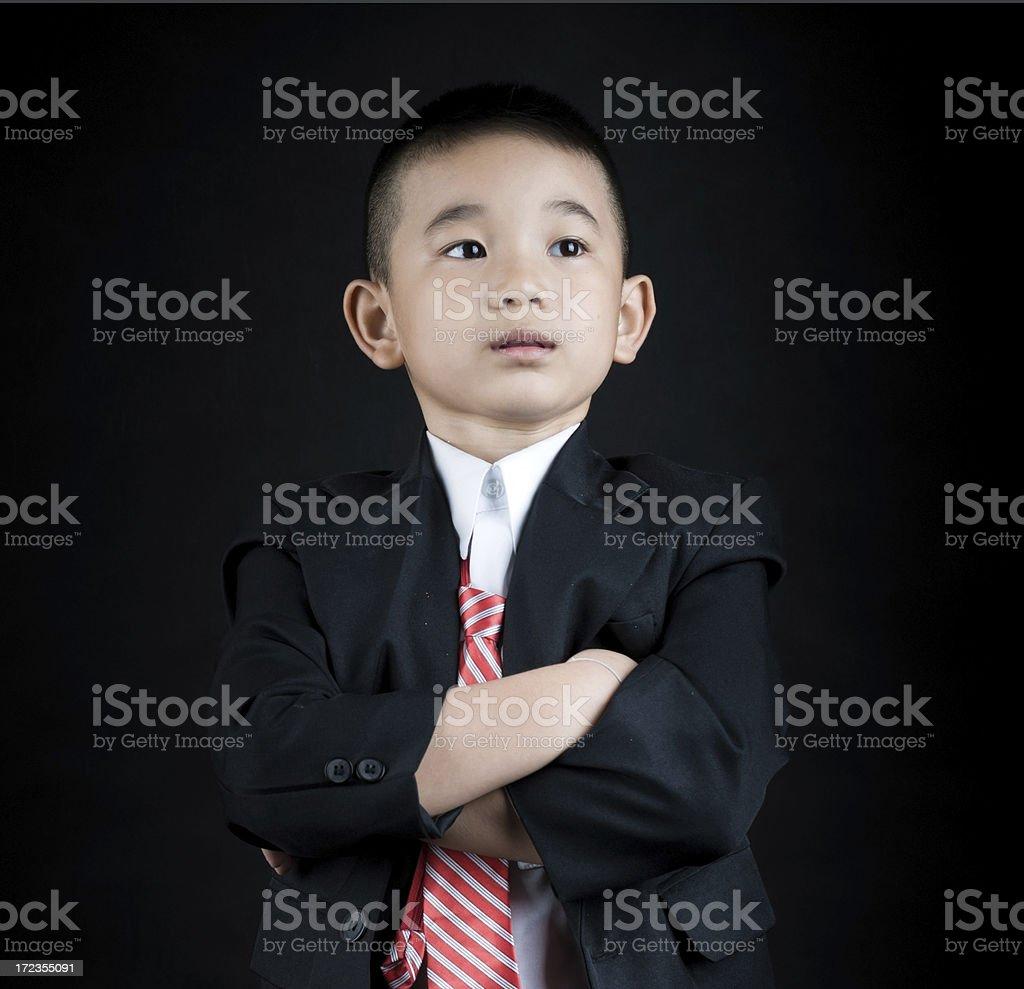 Young negocios niño foto de stock libre de derechos