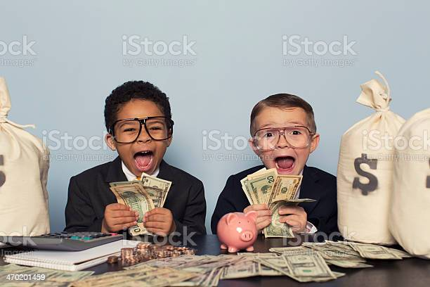 Young business children make faces holding lots of money picture id470201459?b=1&k=6&m=470201459&s=612x612&h=7rt251lb3fqcppydgduqueh butl 3 pnrri95lxwtm=