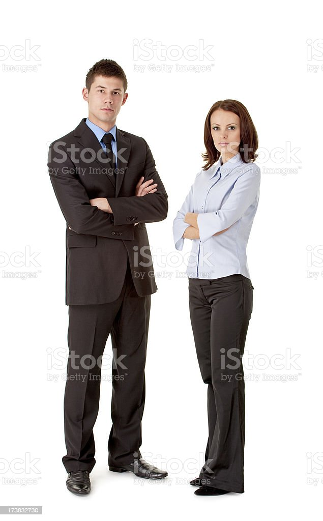 young business couple royalty-free stock photo